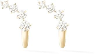 Melissa Kaye 18kt yellow gold Aria Dagger huggie earrings