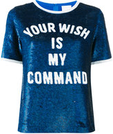 Ashish Your Wish Is My Command sequin T-shirt - women - Silk - S
