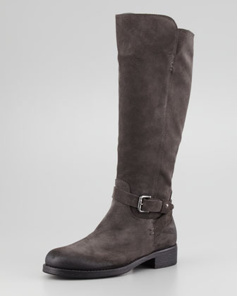 Alberto Fermani Aracelli Suede Knee Boot, Dark Gray