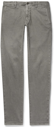 Incotex Light-Grey Slim-Fit Textured Cotton-Blend Trousers - Men