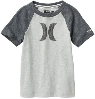 Hurley Marled Knit Icon Logo Graphic T-Shirt
