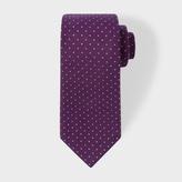 Paul Smith Men's Dark Violet Pin Polka Dot Narrow Silk Tie