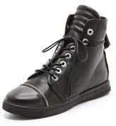 Stuart Weitzman Zipit Lace Up Sneakers