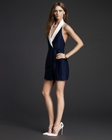 Juicy Couture Gale Asymmetrical Pleated Halter Dress