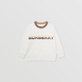 Burberry Childrens Confectionery Logo Print Cotton Sweatshirt
