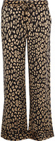 Equipment + Kate Moss Avery leopard-print washed-silk pajama pants