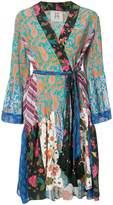 Figue Caroline mixed-print kimono dress