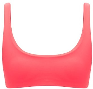 JADE SWIM Rounded Edges Bikini Top - Womens - Pink