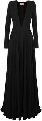 Alexandre Vauthier Gathered Twill Gown