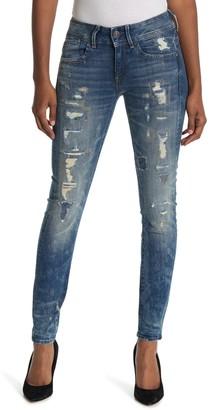 G Star Lynn Mid Distressed Skinny Jeans