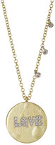 Meira T Yellow Gold Love Pendant Necklace