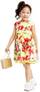 Blueberi Boulevard Little Girls Floral Bow Dress
