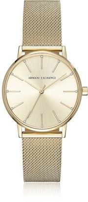 Armani Exchange Lola Gold Tone Mesh Women's Watch