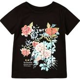 River Island Mini boys black floral print t-shirt