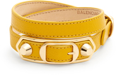 Balenciaga Metallic Edge wraparound leather bracelet