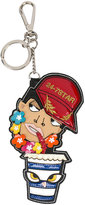 DSQUARED2 24-7 Star keychain - women - Calf Leather/Polyester/Polyurethane - One Size