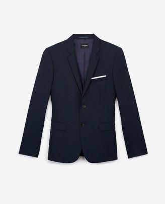 The Kooples Slim-fit navy blue formal wool jacket
