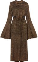 Ellery Gasp Metallic Knitted Midi Dress - Gold