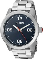 Nixon Women's 'G.I. SS, Navy' Quartz Stainless Steel Automatic Watch, Color:Silver-Toned (Model: A919-307-00)