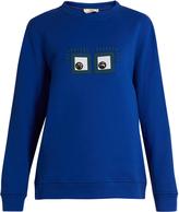 Fendi Hypnoteyes-appliqué cotton sweatshirt