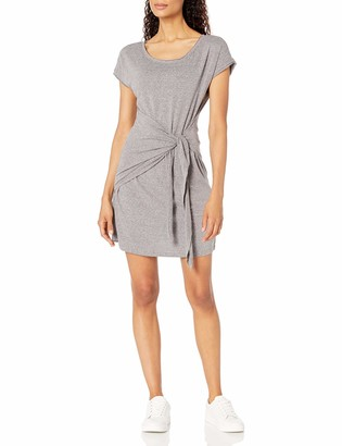 Skinnygirl Women's Deborah Mock Wrap Knot Tie Short Sleeve Dress