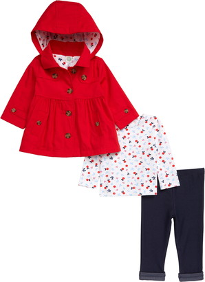 Little Me Shirt, Leggings & Jacket Set