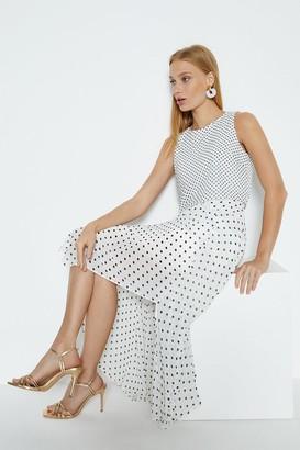 Coast Spot Print Overlay Dress