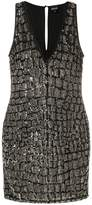 Just Cavalli sequined fitted dress