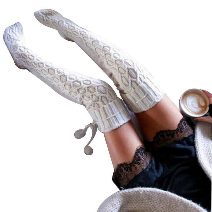 4e87ff9b2df Thigh High Knit Socks - ShopStyle Canada