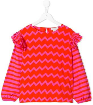 Stella McCartney Zig-Zag Print Blouse