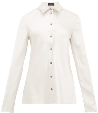 Joseph Calmyl Button-through Silk-satin Shirt - Womens - Silver
