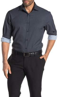 CONSTRUCT Geometric Long Sleeve 4-Way Stretch Slim Fit Shirt