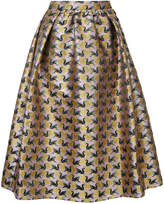 Mary Katrantzou swan flocked skater skirt