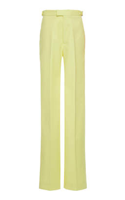 ATTICO High-Rise Cotton-Blend Boot-Leg Trousers