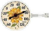 Taylor Precision Products Springfield Thermometer with Wall Bracket, 5.25-Inch, Sunflower