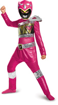 Disguise Pink Power Ranger Dino Charge Sequin Deluxe Costume - Kids