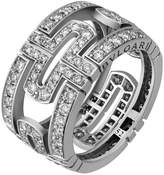 Bvlgari Parentesi 18k Pave Diamond Band Ring, 1.46 tcw, Size 6.25