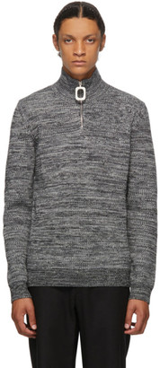 J.W.Anderson Grey Roll Neck Half-Zip Sweater