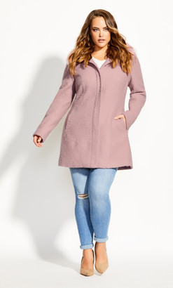 City Chic Sweet Dreams Coat - blush