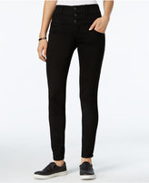 Rewind Juniors' Techno-Tuck High-Waist Skinny Jeans