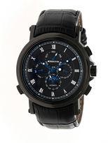 Heritor Kingsley Mens Black Strap Watch-Herhr4806