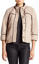 Jolt Faux Fur & Faux Leather Short Jacket