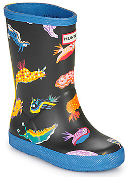 Hunter FIRST CLASSIC SLUG PRINT BOOTS girls's Wellington Boots in Black