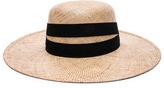 Janessa Leone Six Bolero Hat in Neutrals.