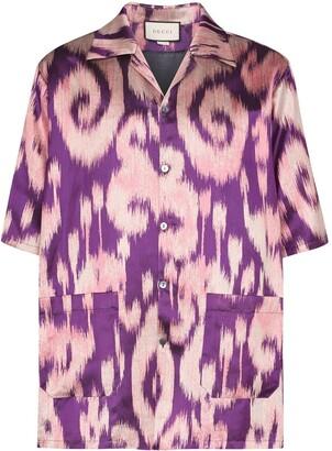 Gucci Swirl Print Bowling Shirt