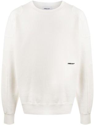 Ambush Panelled Logo-Embroidered Sweatshirt