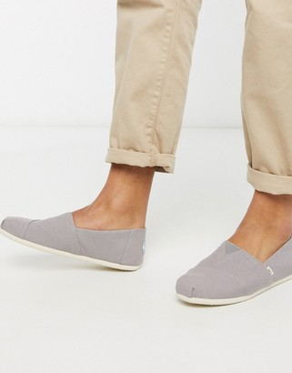 Toms espadrilles in light gray canvas