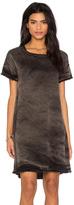 Stateside Vintage Wash Tencel Woven Short Sleeve Shift Dress