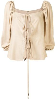 Cult Gaia Aurel front-tie blouse