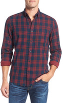 Nordstrom Men&s Shop Spade Plaid Sport Shirt (Big)